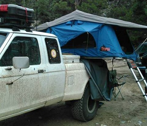 Nice setup. with a tool box and roof top tent across your pickup bed & Nice setup. with a tool box and roof top tent across your pickup ...