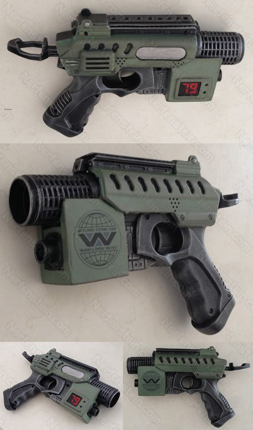 Aliens Colonial Marines Nerf Nite Finder Blaster Pistol Mod baby Because I  love Aliens and Alien and I can never do enough Aliens inspired mods.