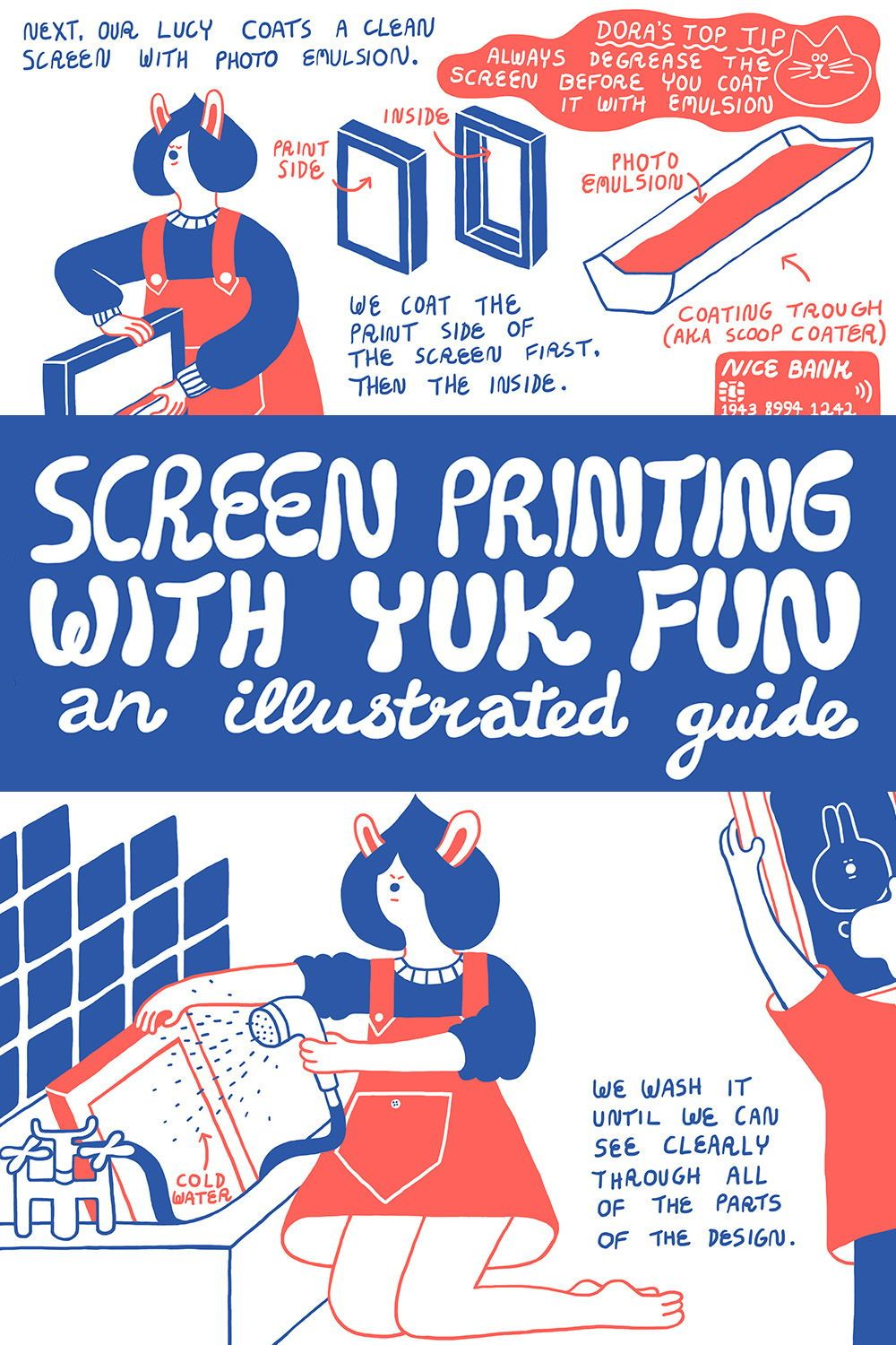 How to screen print at home: an illustrated guide by YUK FUN