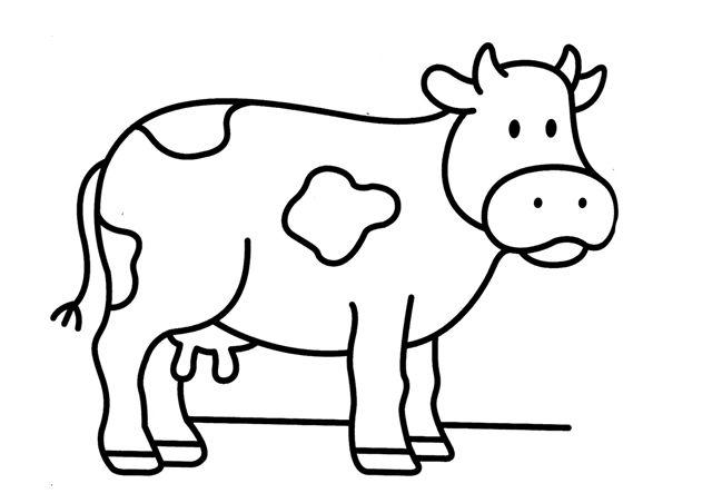 Dibujos De Animales Terrestres Para Colorear E Imprimir: Dibujos De Vacas - Buscar Con Google