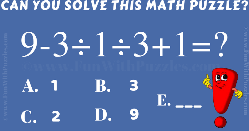 Brain Testing Arithmetic Puzzle With Answer In 2020 Maths
