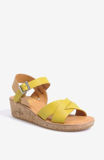 d87e5939569b Kork-Ease  Myrna  Sandal. In the mid-1970s this very same company made  colored smooth leather sandals with suede covered wedge soles.