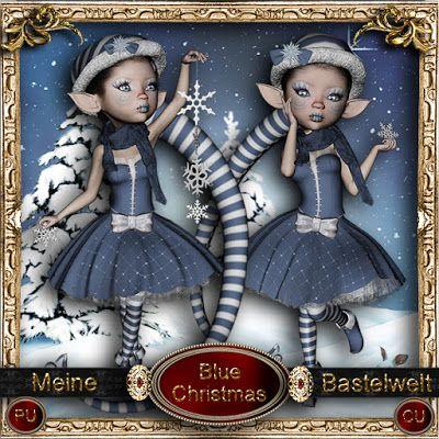 Meine Bastelwelt: Blue Christmas - Tubes
