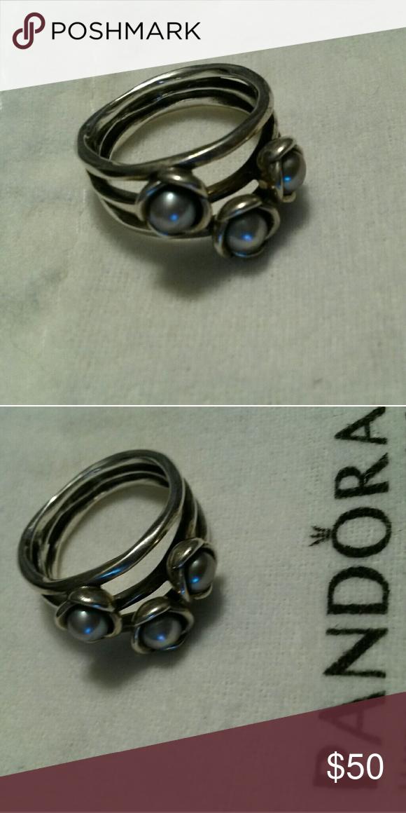87e188cb4 ... discount code for discontinued pandora triple bloom grey pearl ring  5398e cd3b8