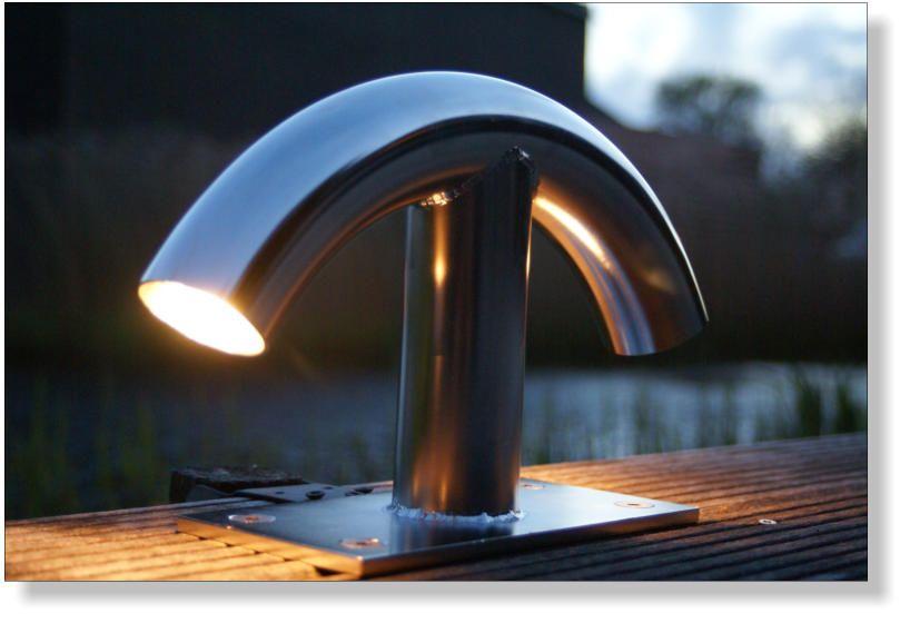 Rvs Bolder Met Verlichting Steigerlamp Steigerlampen Steigerlicht Verlichting Rvs Tuin Keukens