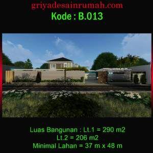 desain rumah villa 2 lantai mewah modern dan kolam renang