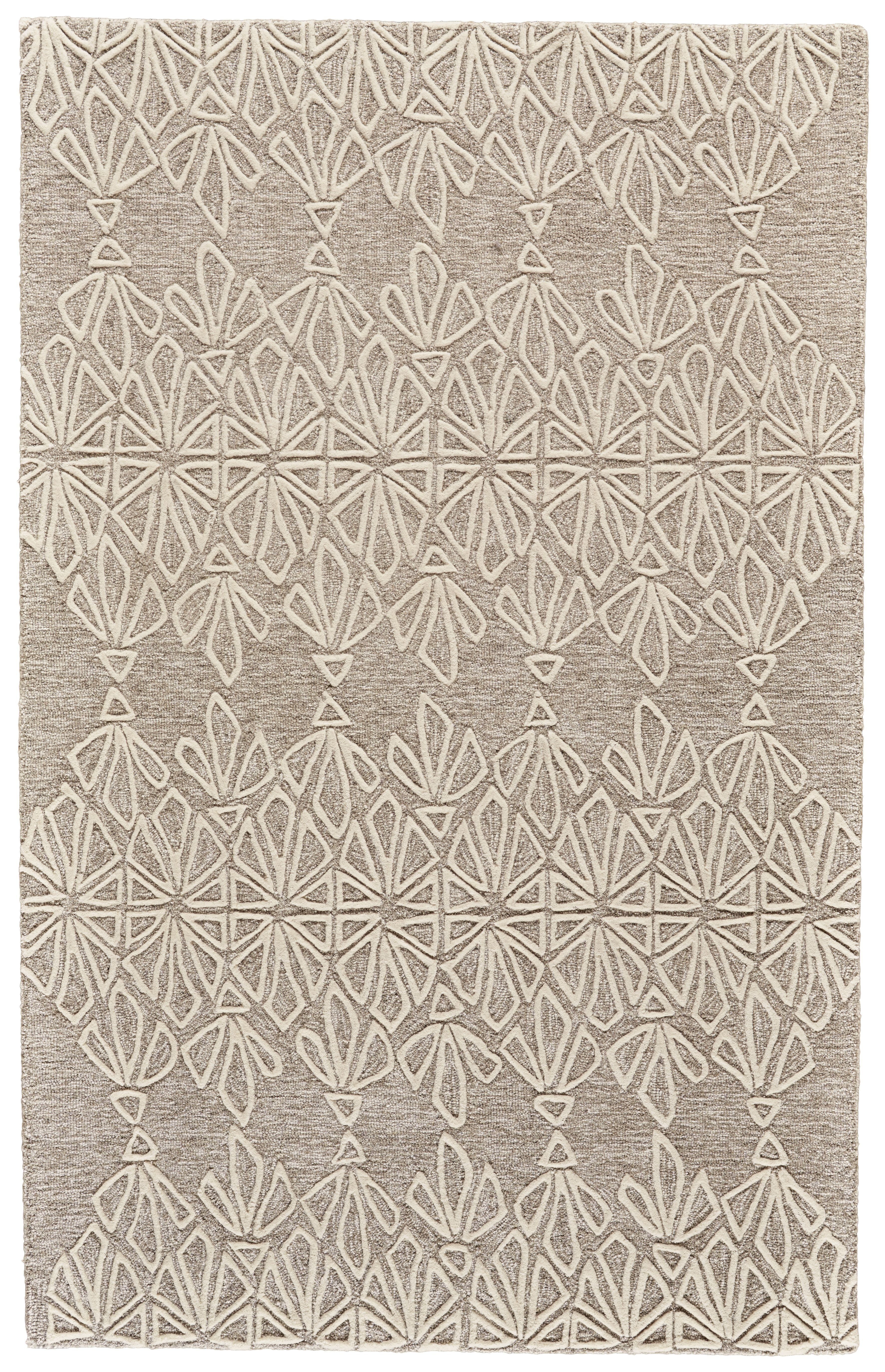 Rug Tribal Floral Ivory Taupe Grey 150 In 2020 Area Rugs