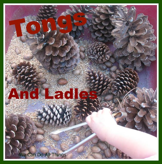 we can do all things: Tongs and Ladles, Fine Motor Skills