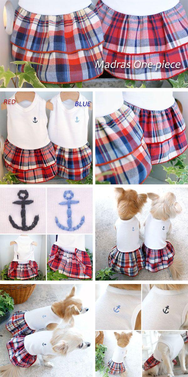 Landy Larick Designs マドラスワンピ 犬用の服のパターン ペット服 小型犬の服
