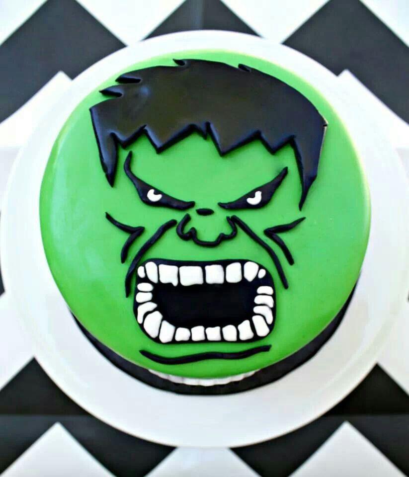 Hulk Birthday Cake CUPCAKES Pinterest Hulk birthday cakes