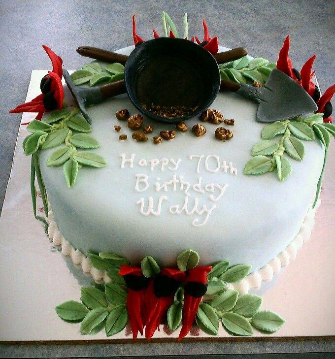 Aussie Prospectors Cake Sturts Desert Pea Cake Decorating