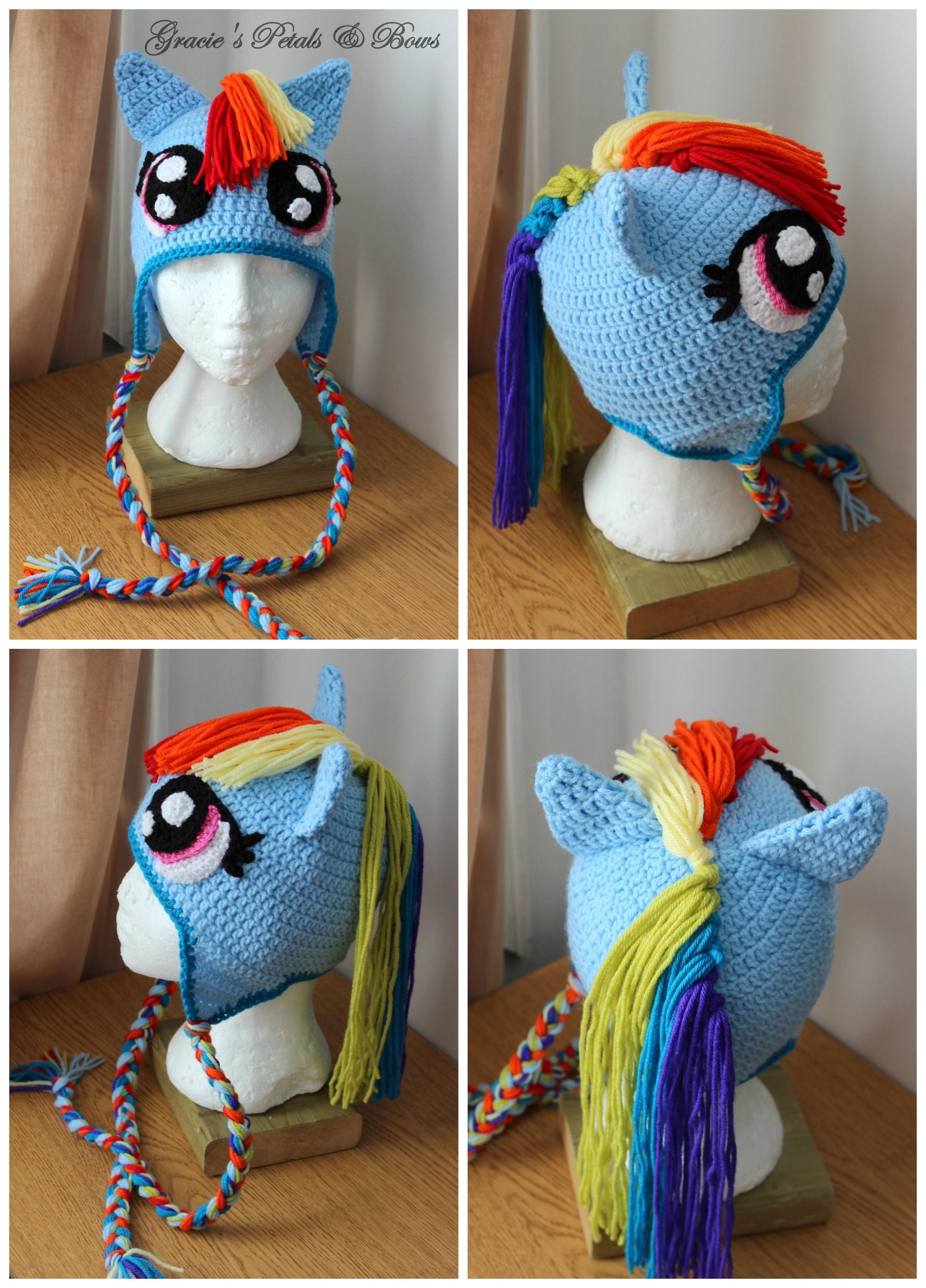 My little pony Rainbow Dash Inspired hat | Crochet | Pinterest ...