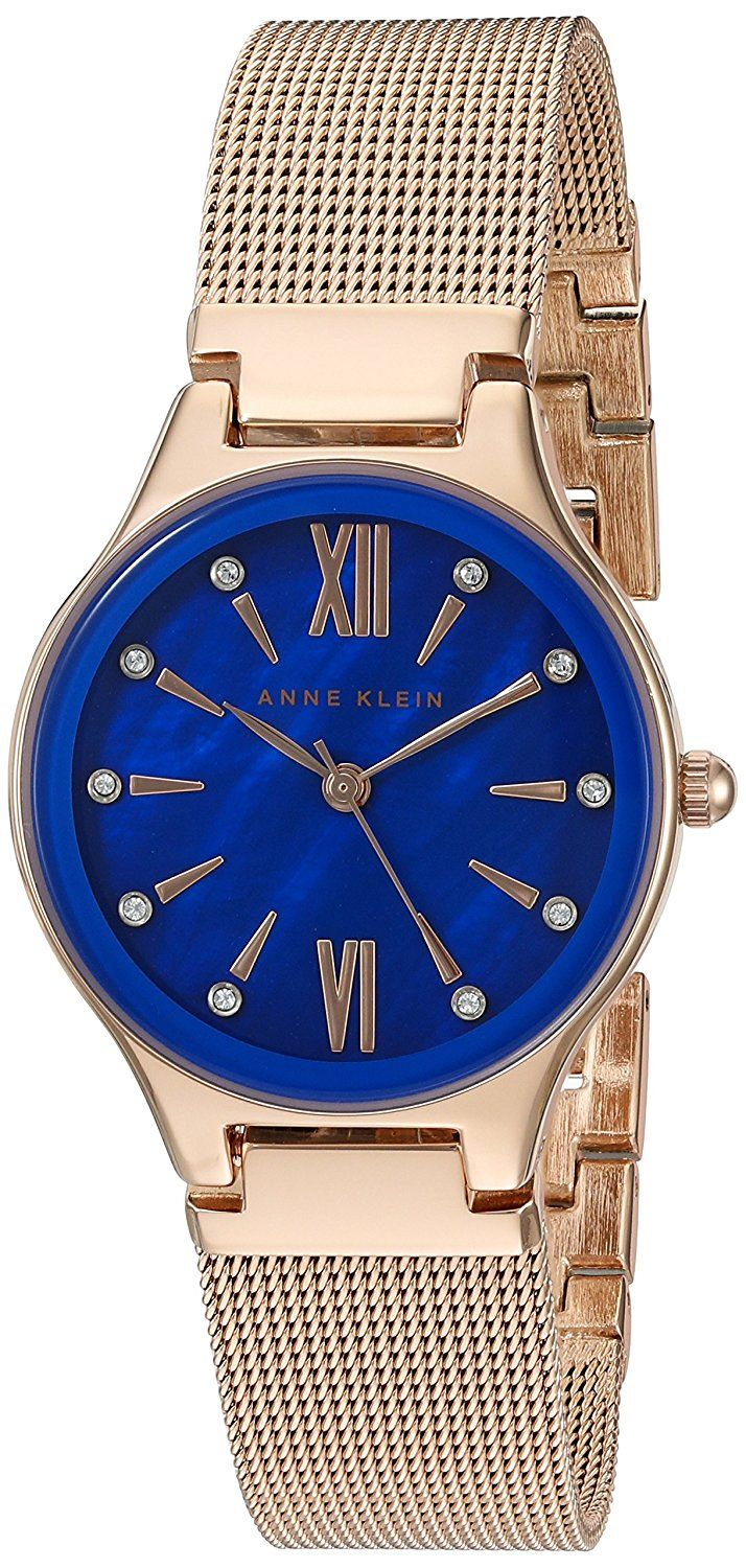 Anne Klein Women's Quartz Metal and Stainless Steel Dress Watch, Color:Rose Gold-Toned (Model: AK/2418CBRG) ** More info could be found at the image url.