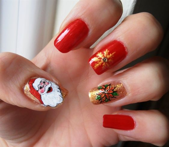 Christmas Nail Art Designs Gallery: New Year 2013 By Barbaras
