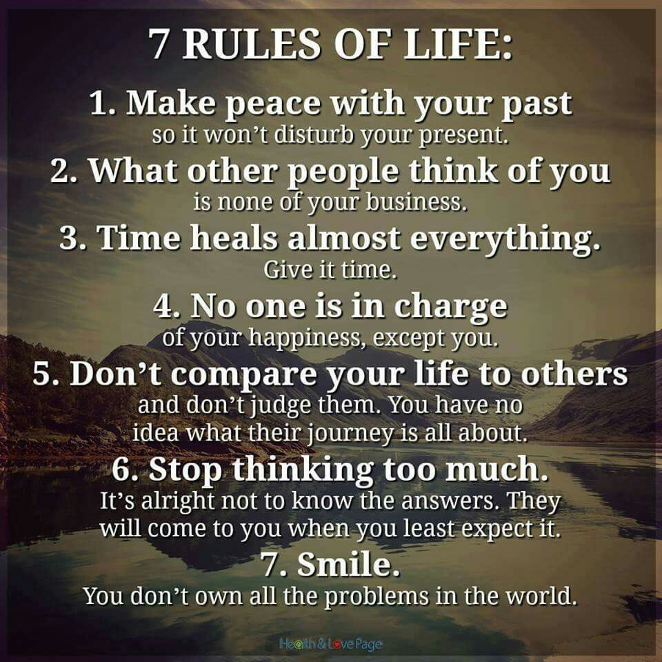 7 Rules Of Life Quote 7 Rules Of Life  Happies  Pinterest