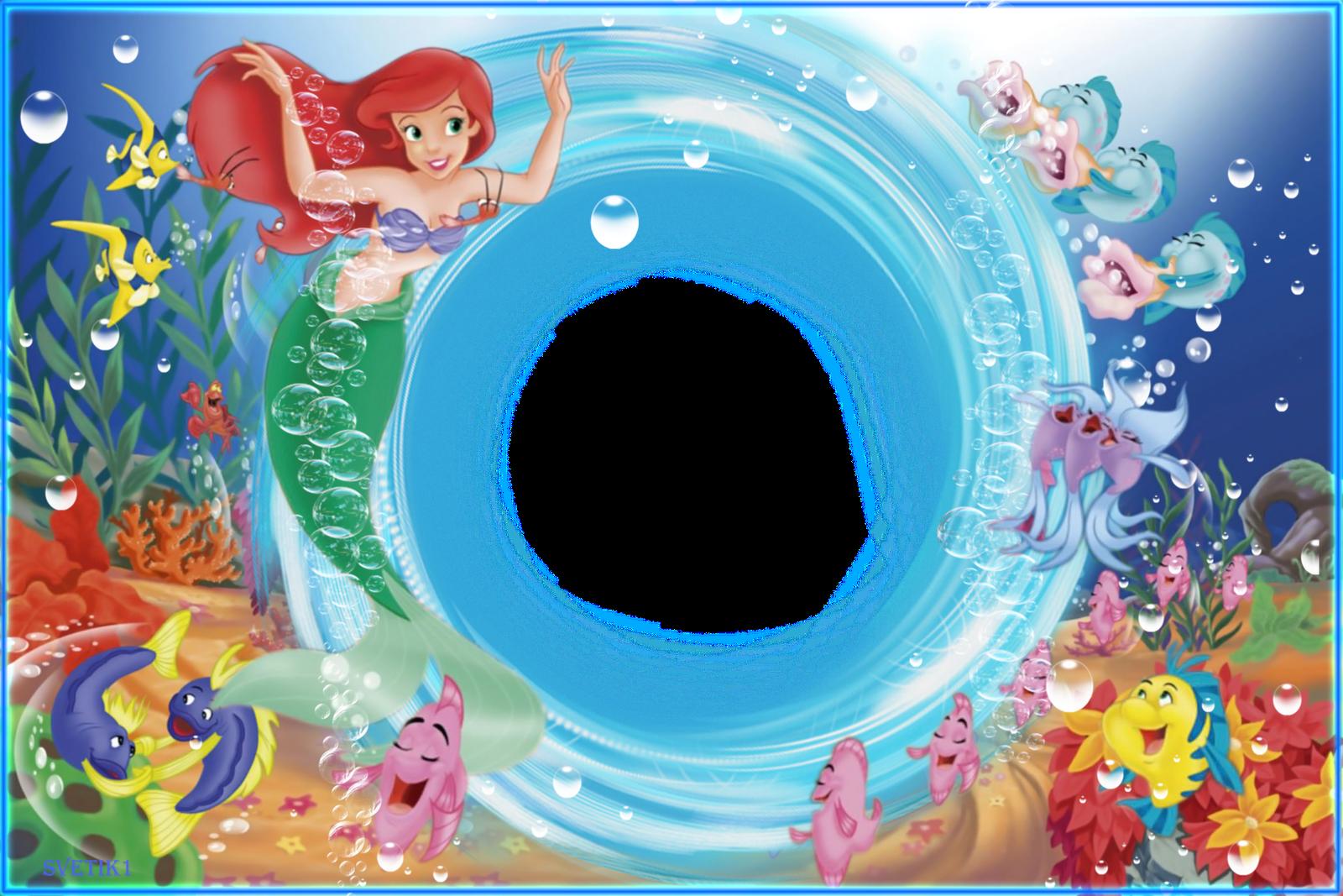 Ariel - La Sirenita de Disney - Marcos para fotos de niñas | Cosas ...