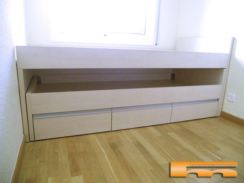 Cama compacta habitacion infantil doble cama nido - Habitacion infantil cama nido ...
