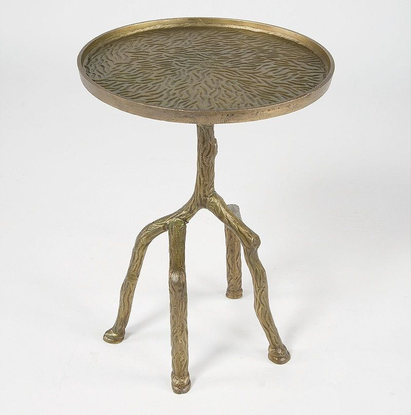Tree Branch Bronze Round Side Table Round Side Table Side Table