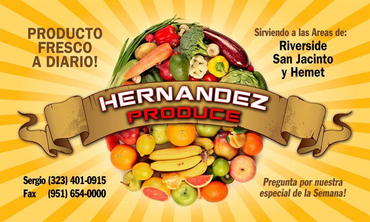 Hernandez Produce Business Cards Produce