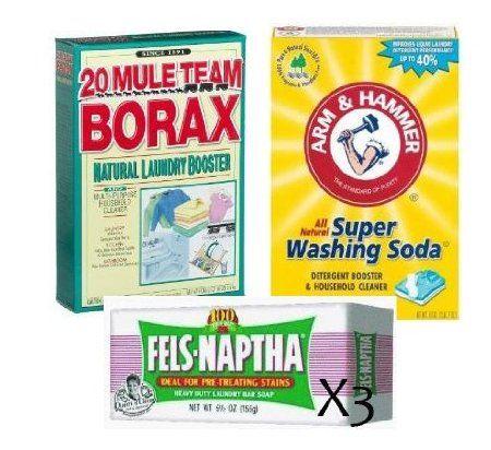 Amazon Com Laundry Soap Kit Fels Naptha Borax Washing Soda