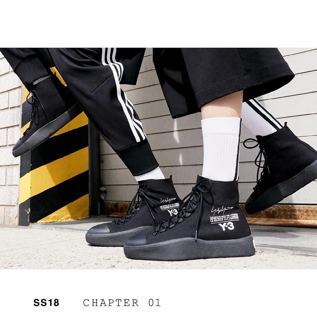 a5cbe52fe Y-3 Spring Summer 2018 Y-3 Bashyo. Fashion-forward style. Available today  on Y-3.com. 📸   alessiobolzoni Styling   mauricionardi  adidas  Y3   YohjiYamamoto ...