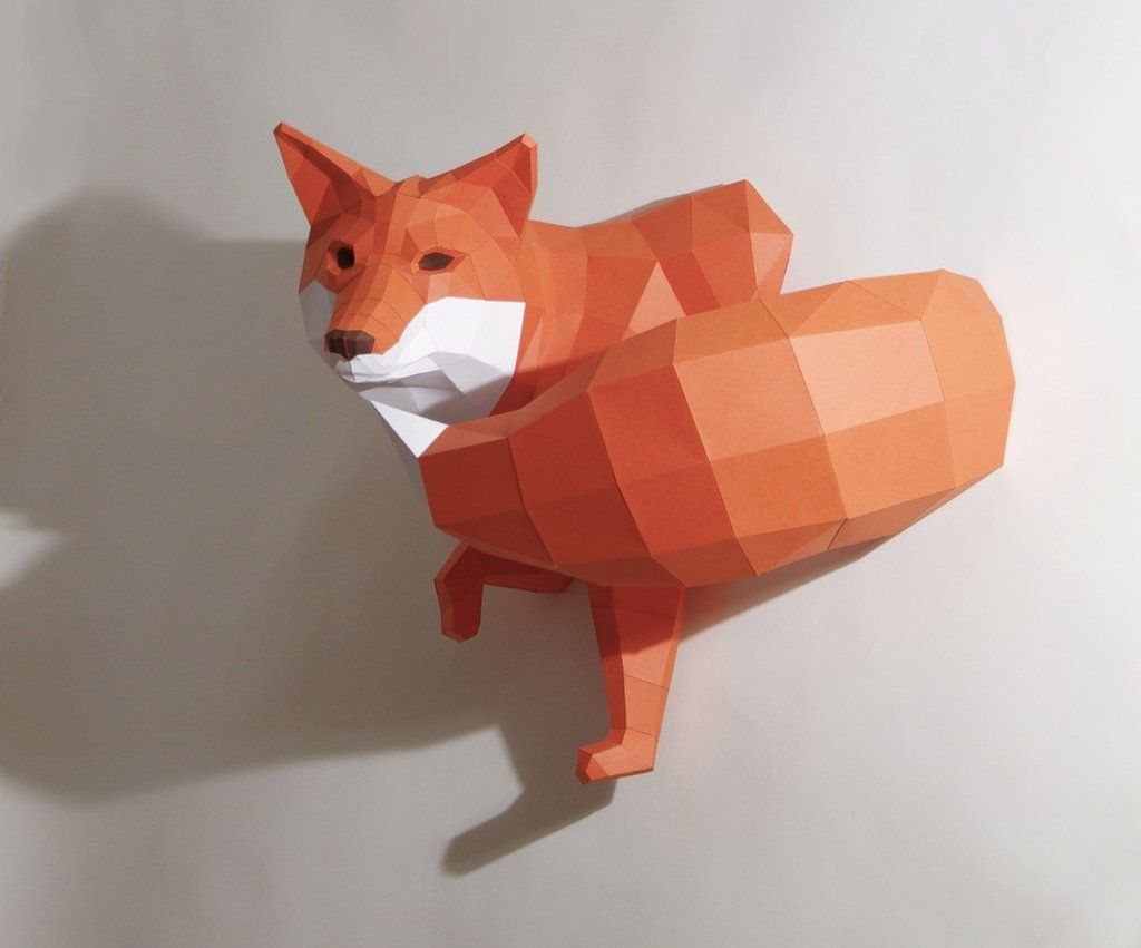 Papercraft animal wall trophies feeling foxy you will every day papercraft animal wall trophies feeling foxy you will every day with paperwolfs diy sculptural papercraft jeuxipadfo Image collections