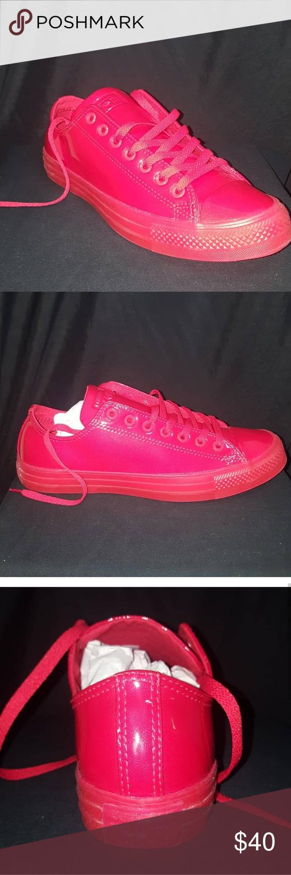 1f12fdb23d30 CONVERSE CHUCK TAYLOR RED PATENT LEATHER UNISEX BNWB EXCELLENT CONDITION  LADIES 11 MEN 9 Converse Shoes Athletic Shoes