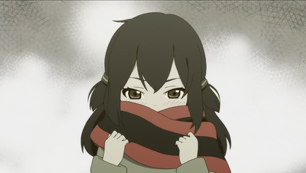 Hime Yarizakura (Yozakura quartet hana no uta) - Karakter anime yang memakai syal merah