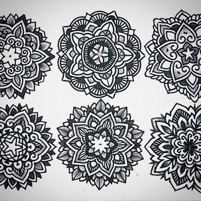 #tattooart #mandala #dotwork #blackwork #tabuns #alextabuns