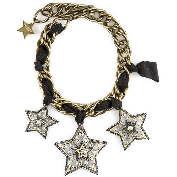 ' Lanvin Altaïr ' Necklace (8.050 BRL) ❤ liked on Polyvore featuring jewelry, necklaces, crystal, lanvin necklace, engraving necklaces, chains jewelry, star jewelry and chain necklace