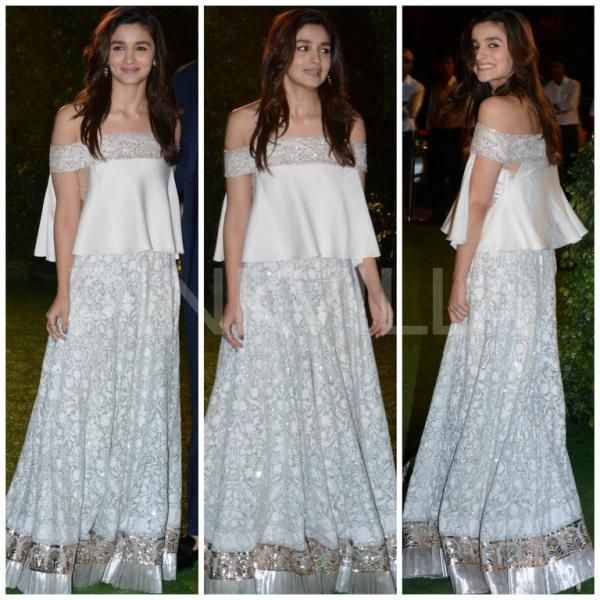 Celebrity Approved Ways To Wear White This Wedding Season Designer Dresses Indian Bollywood Fashion Crop Top Dress
