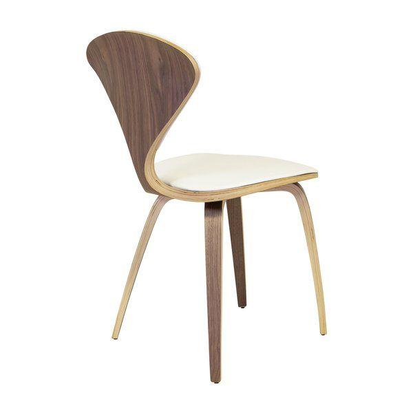 Astounding Satine Genuine Leather Upholstered Dining Chair Allmodern Evergreenethics Interior Chair Design Evergreenethicsorg