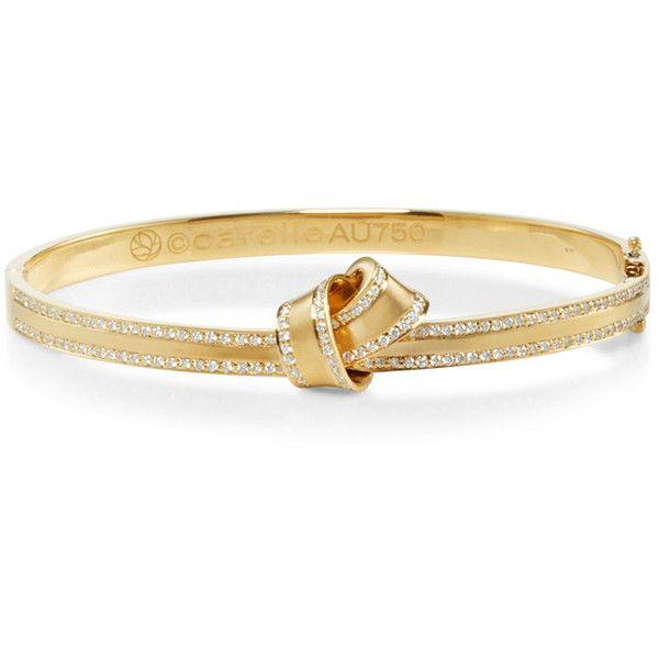 Carelle 18K White Gold & Pavé Diamond Knot Bangle Bb125etG