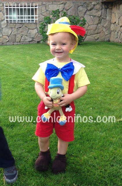 Cosas que hacer con los niños ocio peques actividades casa Disfraces  Pinocho 9cb8e27c9aa