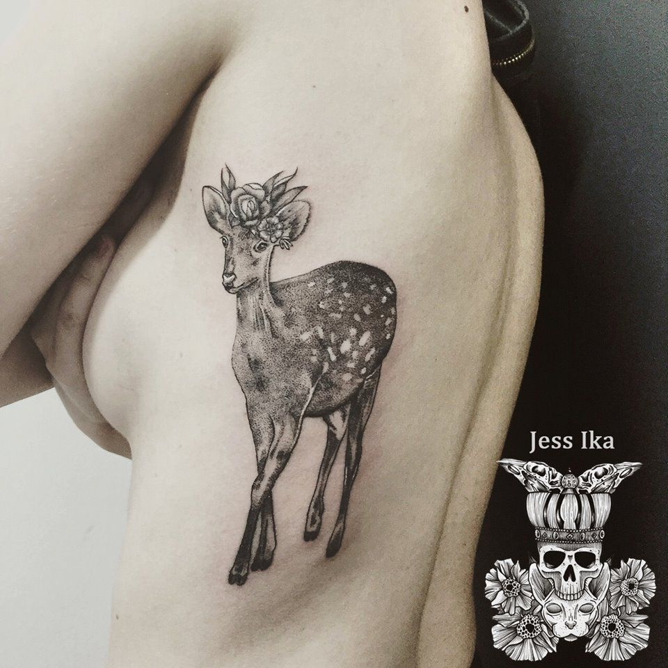 tatouage biche tattoo pinterest tatouages. Black Bedroom Furniture Sets. Home Design Ideas