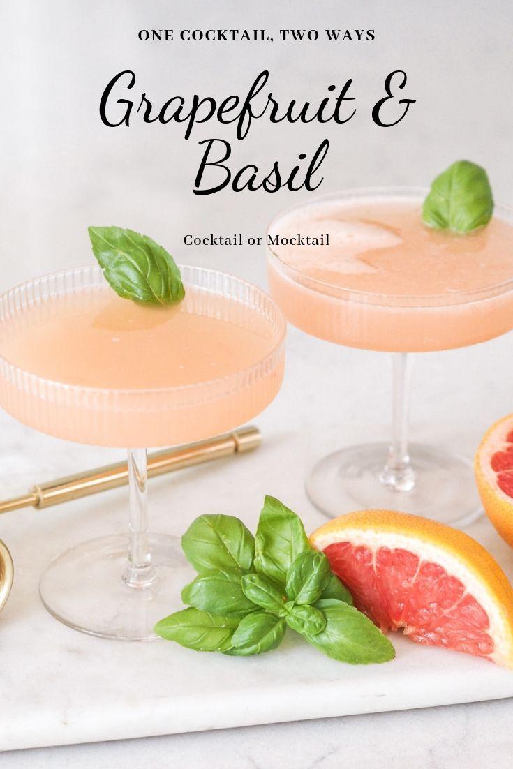 Grapefruit and basil cocktail #grapefruitcocktail