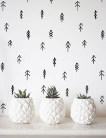 Behang Zwart Wit Babykamer.Wallpaper Behang Kinderkamer Zwart Wit Monochrome Interieur