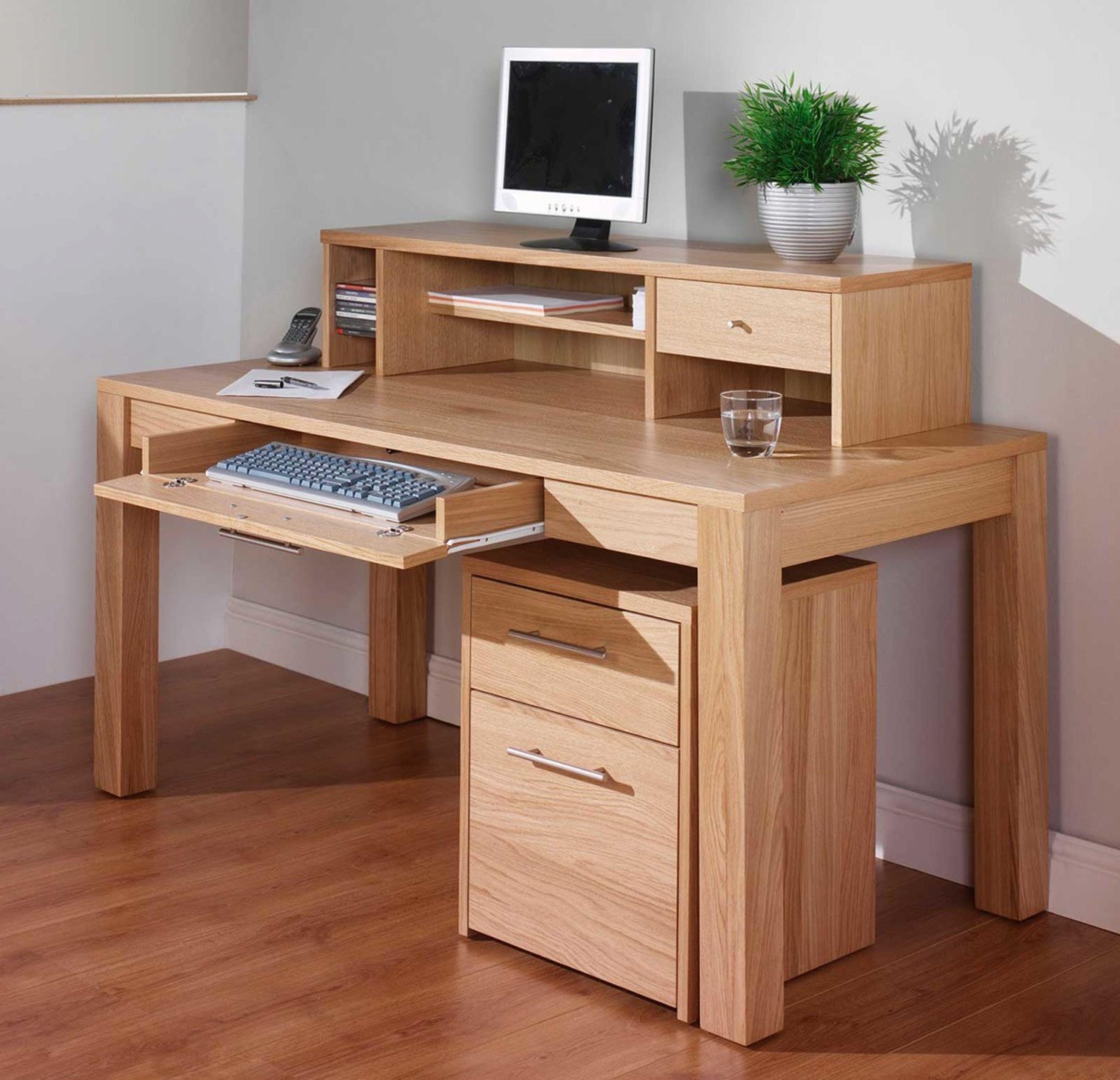 Modern Pine Office Desk