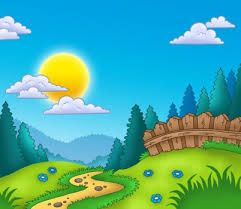 Resultado De Imagen Para Paisajes Para Pintar En Una Pared Scenery Drawing For Kids Drawing For Kids Kindergarten Drawing