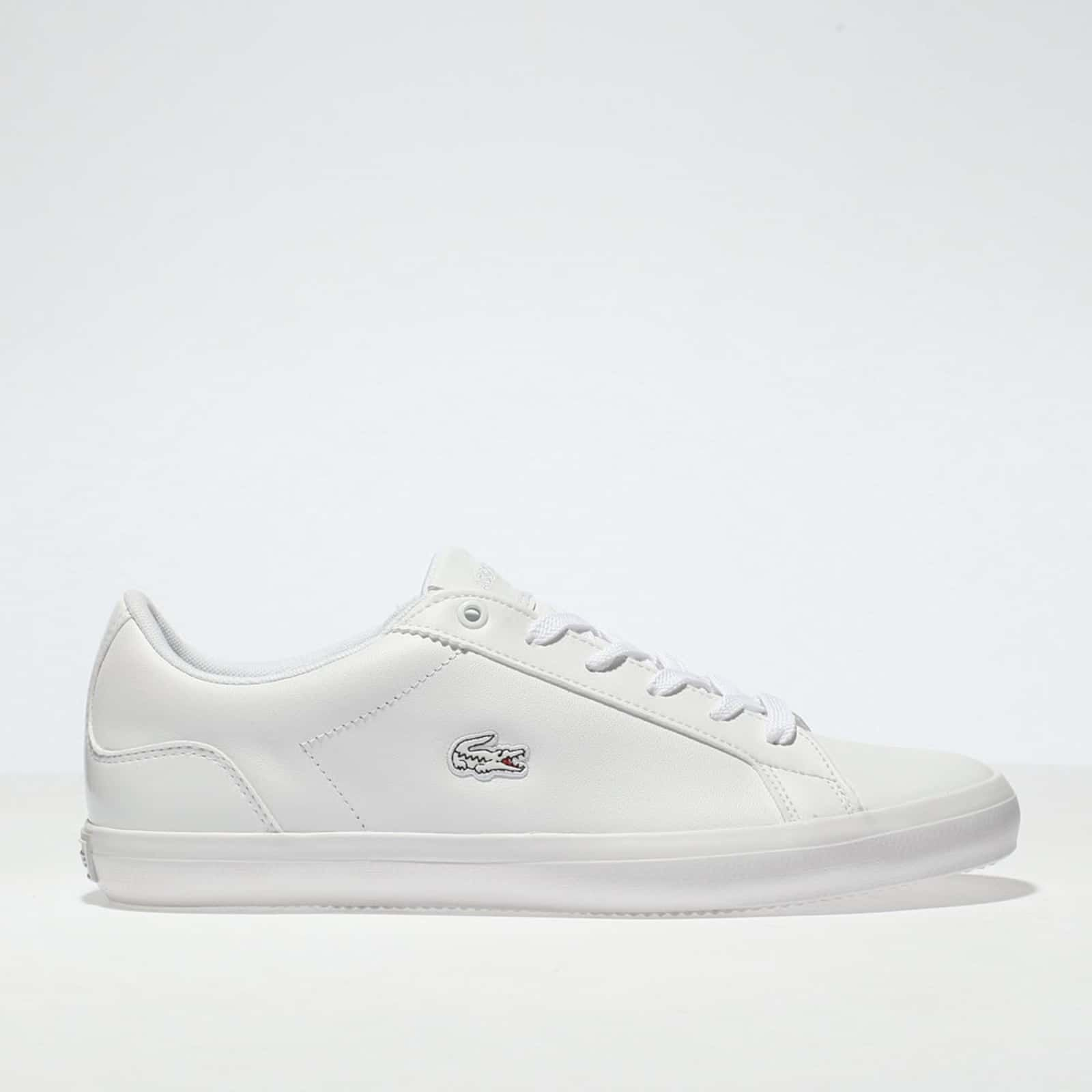Womens White Lacoste Lerond Trainers