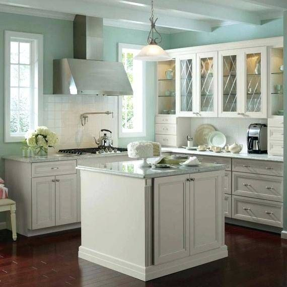 Kitchen Cabinets With Legs | Blue kitchen walls, Kitchen ...