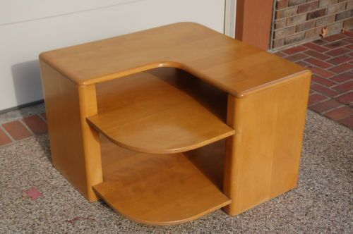sold for 250 in jan 2015 heywood wakefield mid century modern corner table c3960 g
