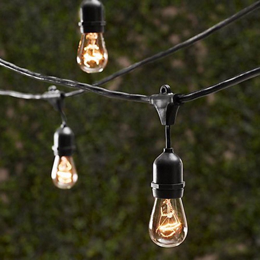 Marvelous Create A Warm Ambiance Around Your Back Patio With These Outdoor String  Lights.