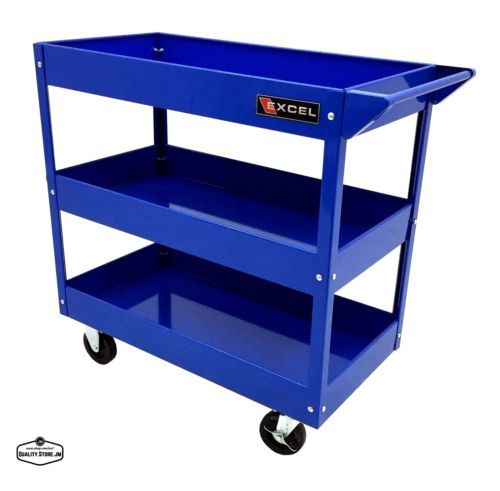 Mechanics-Tool-Cart-Rolling-On-Wheels-Mobile-Storage ...