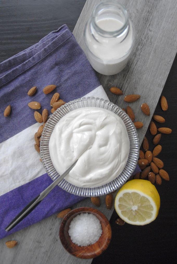 Almond Milk Sour Cream Vegan Dairy Free Soy Free Recipe Sour Cream Recipes Vegan Sour Cream Sour Cream