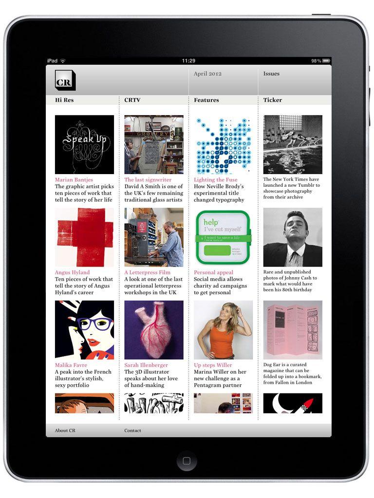 CR iPad App Ipad, New ipad, Creative review