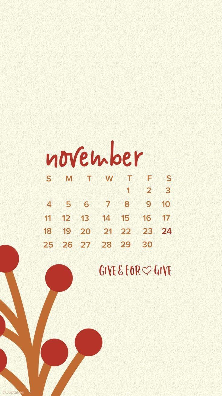 November 2018 iPhone Calendar Images in 2019 Calendar