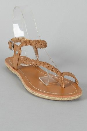 4c9bb09344f3af braided tan sandals  these would go with the white dress