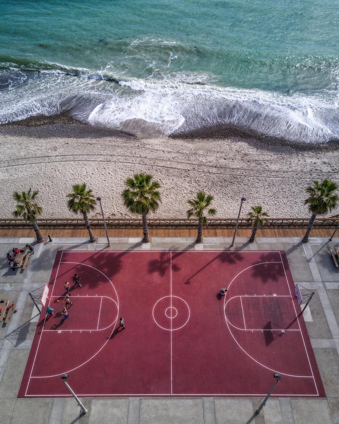 Beach Basketball Playground Seaside Basketball Tumblr Basketball Workouts Basketball Photography