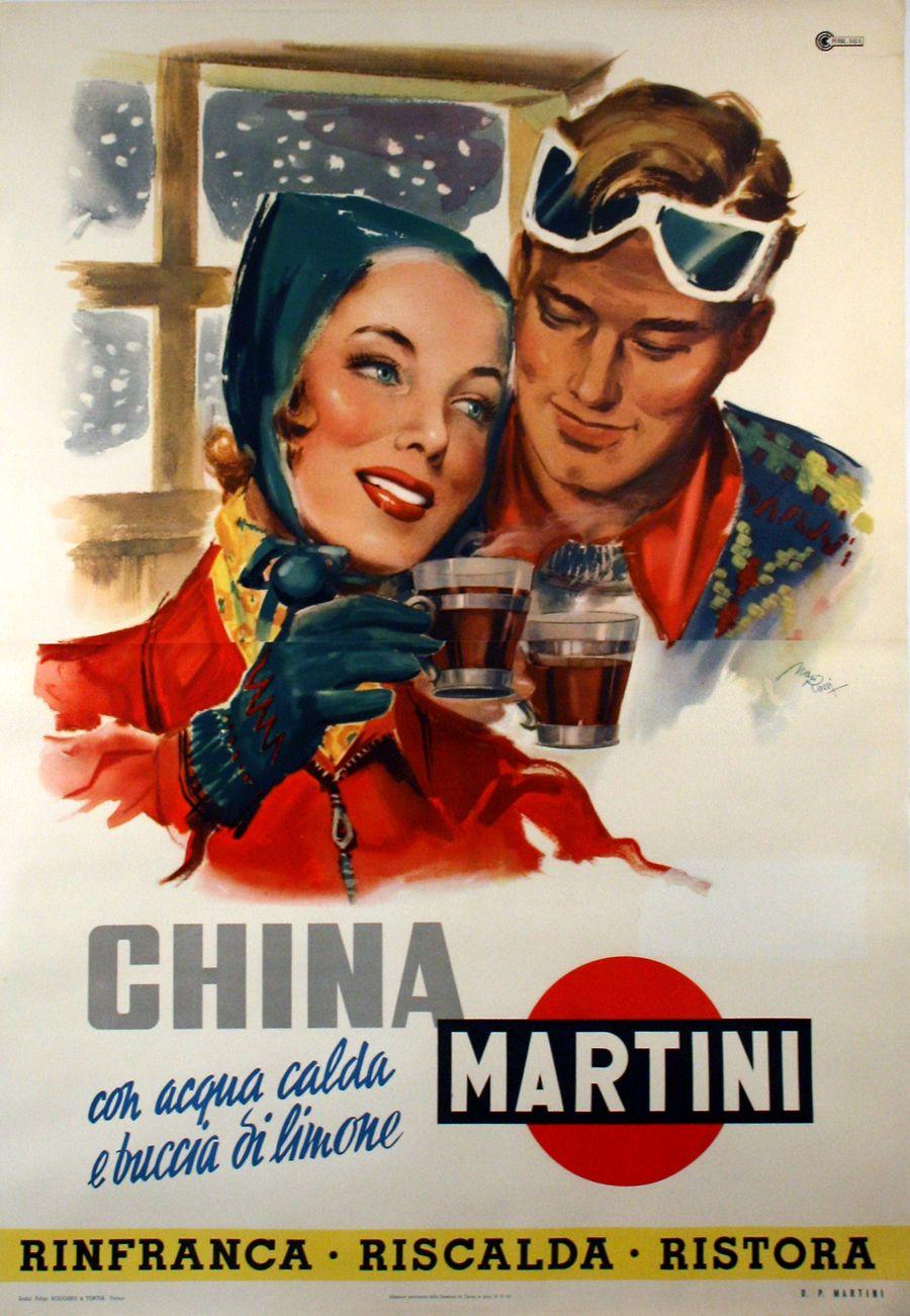 China Martini Poster Pubblicita Poster Design Vintage Poster Vintage Pubblicita Vintage